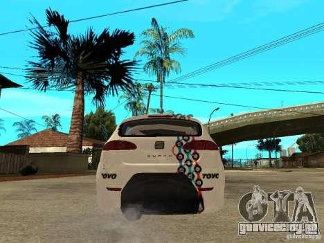 Seat Leon Cupra Bound Dynamic для GTA San Andreas вид сзади слева