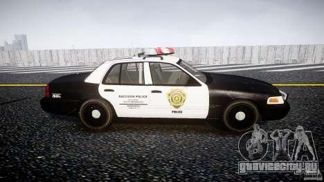 Ford Crown Victoria Raccoon City Police Car для GTA 4 вид изнутри