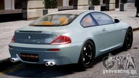 BMW M6 G-Power Hurricane для GTA 4 вид сверху