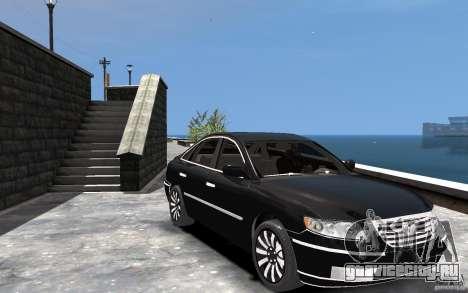 Hyundai Azera 2008 для GTA 4 вид сзади