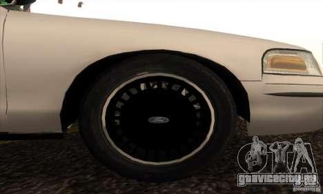 Ford Crown Victoria California Police для GTA San Andreas вид справа