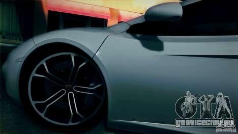 McLaren MP4-12C 2012 для GTA San Andreas вид сзади