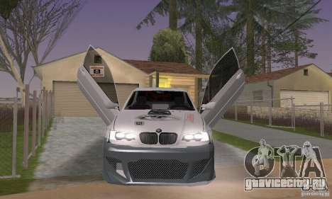 BMW M3 Hamman Street Race для GTA San Andreas вид сзади