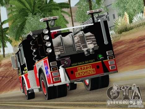 Seagrave Marauder Engine SFFD для GTA San Andreas вид сбоку