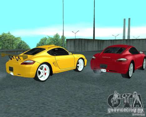Porsche Cayman S для GTA San Andreas вид справа
