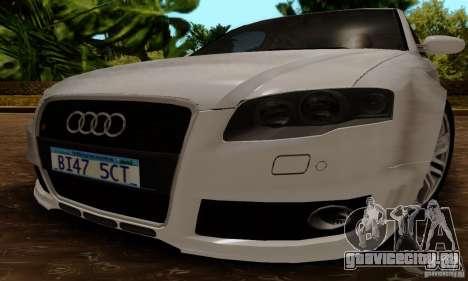 Audi RS4 2007 для GTA San Andreas вид справа
