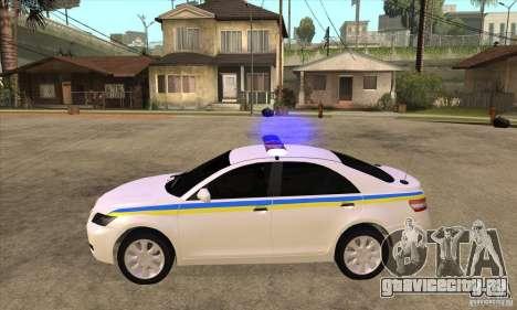 Toyota Camry 2010 SE Police UKR для GTA San Andreas вид слева