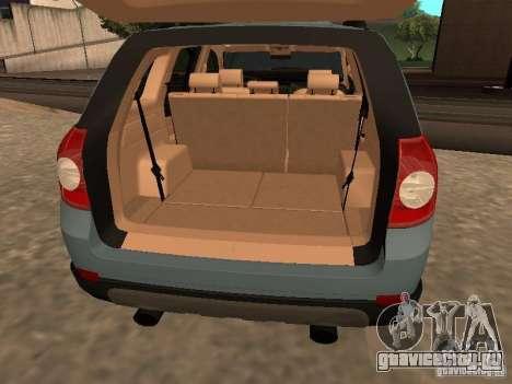 Chevrolet Captiva для GTA San Andreas вид сзади