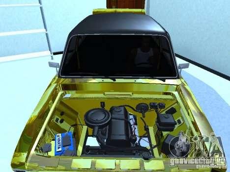 Ваз 2106 (Золотой) для GTA San Andreas вид сзади слева