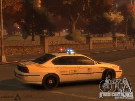 Chevrolet Impala Police 2003 для GTA 4 вид справа