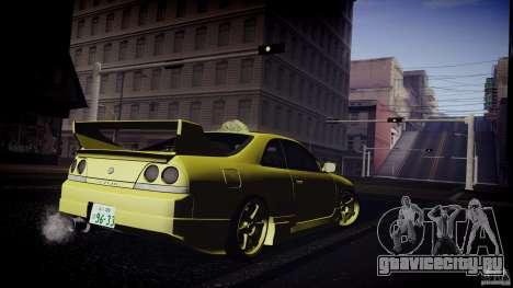 Nissan Skyline GTS R33 для GTA San Andreas вид сзади