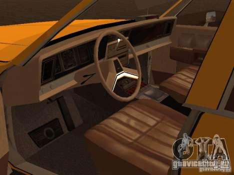 Chevrolet Caprice 1986 Taxi для GTA San Andreas вид сзади