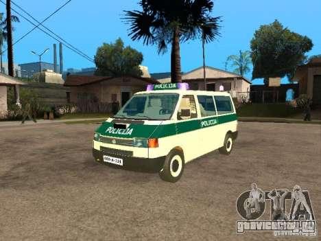 Volkswagen Transporter T4 Bosnian police для GTA San Andreas