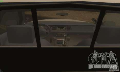 Ford Crown Victoria California Police для GTA San Andreas вид сзади слева