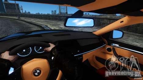 BMW X6 2013 для GTA 4 вид изнутри