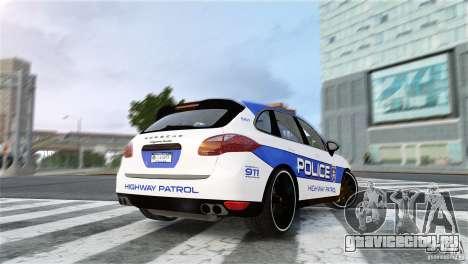 Porsche Cayenne Cop для GTA 4 вид слева