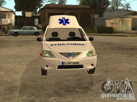 Dacia Logan Ambulanta для GTA San Andreas вид изнутри