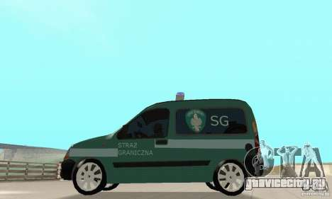 Renault Kangoo Straz Graniczna для GTA San Andreas вид справа