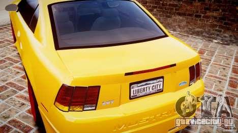 Ford Mustang SVT Cobra v1.0 для GTA 4 вид сверху