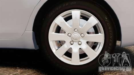 Toyota Camry Altise 2009 для GTA 4 вид сзади