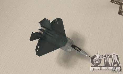 Y-f22 Lightning для GTA San Andreas вид справа