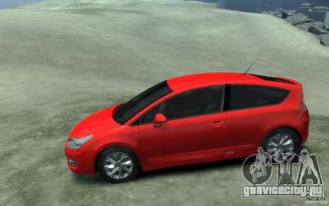 Citroen C4 2009 VTS Coupe v1 для GTA 4