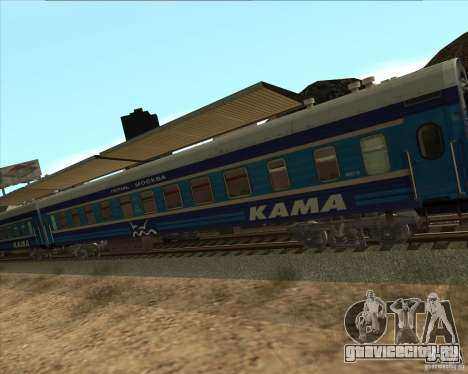 Вагон КАМА для GTA San Andreas вид справа