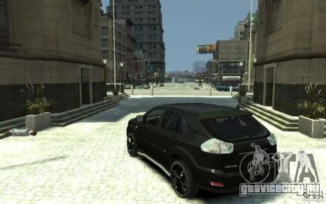 Lexus RX 400h для GTA 4 вид сзади слева