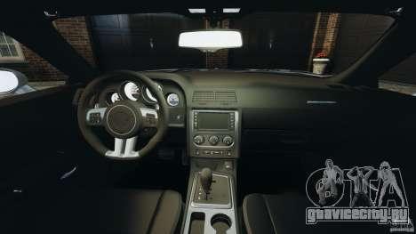 Dodge Challenger SRT8 392 2012 для GTA 4 вид сзади