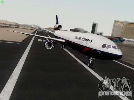 McDonell Douglas DC-10-30 British Airways для GTA San Andreas вид слева