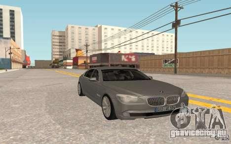 BMW 730d для GTA San Andreas вид сзади слева