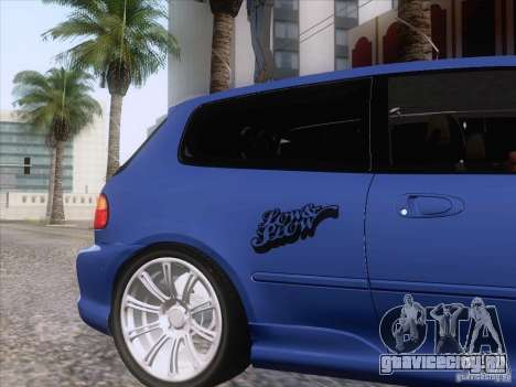 Honda Civic IV GTI для GTA San Andreas вид сзади