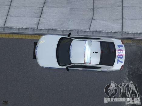 Dodge Charger NYPD для GTA 4 вид изнутри