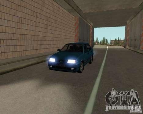 ВАЗ 21099 Люкс для GTA San Andreas вид изнутри