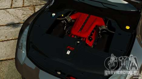 Ferrari F12 Berlinetta 2013 Stock для GTA 4 вид изнутри