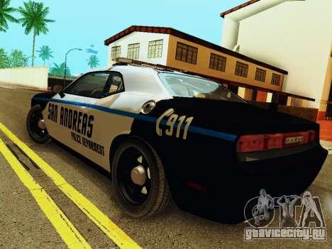 Dodge Challenger SRT8 2010 Police для GTA San Andreas вид сзади слева
