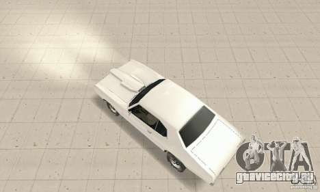 Pontiac GTO 1969 stock для GTA San Andreas вид сзади слева