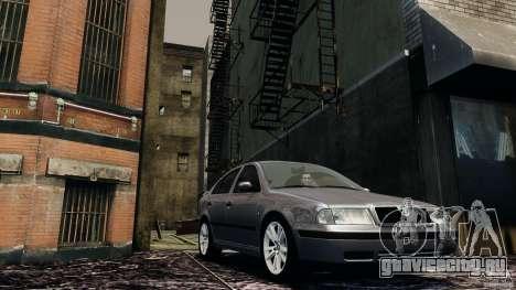 Skoda Octavia v.1.0 для GTA 4 вид слева