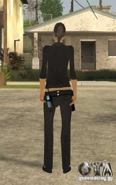 Скин девушки ПД для GTA San Andreas третий скриншот