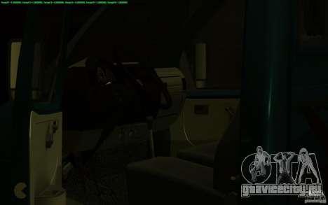 ГАЗель 3302-14 Эвакуатор для GTA San Andreas вид изнутри