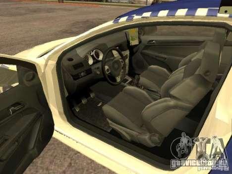 Opel Astra 2007 Police для GTA San Andreas вид сзади слева