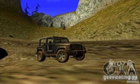 Jeep Wrangler для GTA San Andreas вид сзади слева