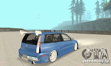 Mitsubishi Lancer Evolution IX Wagon MR Drift для GTA San Andreas вид слева