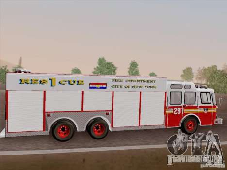 E-One F.D.N.Y Fire Rescue 1 для GTA San Andreas вид сверху