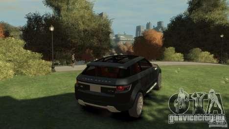 Land Rover Rang Rover LRX Concept для GTA 4 вид сзади слева
