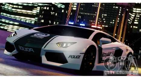 Lamborghini Aventador LP700-4 Dubai Police v1.0 для GTA 4 вид слева
