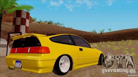 Honda CRX Hella Flush для GTA San Andreas вид слева