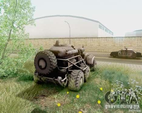 Cheta Paw из Borderlands для GTA San Andreas вид слева