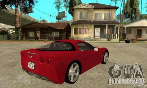 Chevrolet Corvette C6 Z51 - Stock для GTA San Andreas вид справа