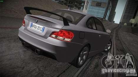 BMW 135i Coupe Road Edition для GTA San Andreas вид сверху